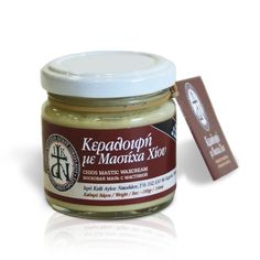 Wax cream from Mount Athos with Olive Oil, Balsamic oil, Wax and Chios Mastic. It is ideal for chapped hands, feet and lips. Anti-cellulite, it helps reduce wrinkles and stretch marks. It has strong antimicrobial activity. It is also effective in cases of wound healing and skin regeneration / Κεραλοιφή Αγίου Όρους με φυσική μαστίχα Χίου. Δρα ενάντια στην ξηροδερμία, την ψωρίαση, τις δερματίτιδες. Ιδανική για αιμορροΐδες, για ενυδάτωση, σκασμένα χέρια, πόδια και χείλη.