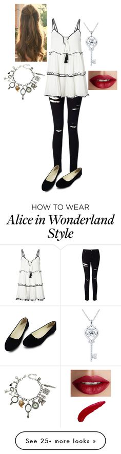 """""""Untitled #468"""" by sarawaters100 on Polyvore featuring Miss Selfridge, Q&Q and TheBalm"""