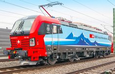 [CH] Railcolor Design presents the new Vectron design for SBB Cargo International – Railcolor Swiss Railways, Electric Locomotive, Model Trains, Reign, Transportation, Engineering, The Unit, Creativity, Presents