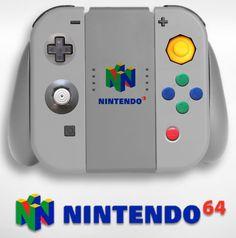 Retro Edition - 1996 N64 controller - Nintendo Switch controller & joy cons concept Nintendo Wii Controller, Game Controller, Nintendo 3ds, Atari Video Games, Video Game Posters, Video Game Anime, Video Game Cosplay, Control Nintendo, Pc Or Console