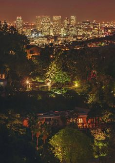LA by night - Los Angeles, from the Hollywood Hills