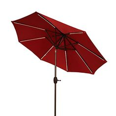 Ulax Furniture 9 Ft Solar Powered LED Lights Patio Umbrella Aluminum Outdoor Market Umbrella with Tilt and Crank system Air Vent 100% Polyester Red Review https://homepatiogarden.net/ulax-furniture-9-ft-solar-powered-led-lights-patio-umbrella-aluminum-outdoor-market-umbrella-with-tilt-and-crank-system-air-vent-100-polyester-red-review/