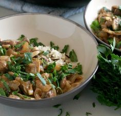 This ready-in-15 recipe is the fast lane version of your regular Mushroom Stroganoff!