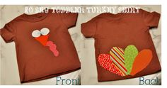 Toddler No-Sew Turkey Shirt