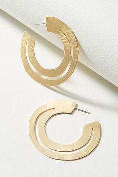 Slide View: 1: Cyra Hoop Earrings