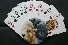 Kid's Handheld Playing Card Holder! _ Puppy Love!! - pinned by pin4etsy.com