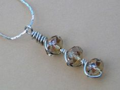 Wire Wrapping with 3 beads