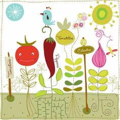 dibujos, ilustraciones infantiles Carolyn Gavin