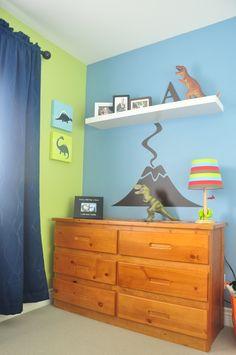 Homeworks Etc Dinosaur Canvas Wall Art And Volcano Decal Make