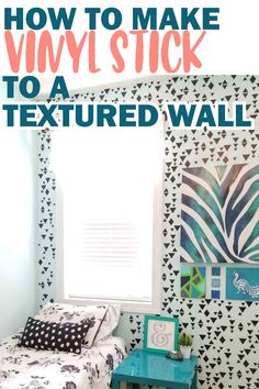 If you have ever tried to apply vinyl to a textured wall, it may have been an unpleasant experience. Try this steps to make the vinyl stick.
