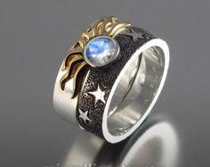 THE ENCHANTED Wedding Band 14k rose gold & lab alexandrites