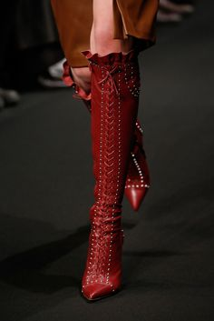 Runway Porn: The Best Accessory of the Day - Altuzarra Who could resist a red hot pair of thigh-grazing boots on Valentine's Day?​