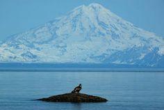 Mt. Redoubt Volcano & Cook Inlet, Ninilchik, Alaska