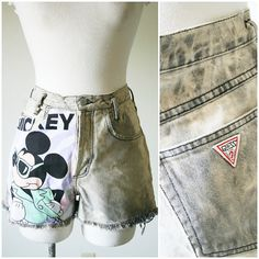 vintage 90s bleached GUESS MICKEY MOUSE by PasseNouveauVintage, $24.70