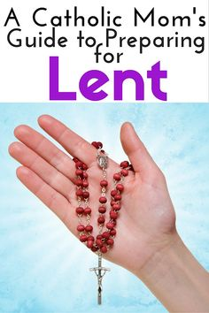 Get ready! Lent is coming - let's get started preparing our hearts! Great resources for Catholic moms and others who celebrate Lent.