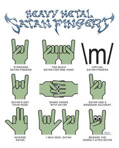 - satan fingers..