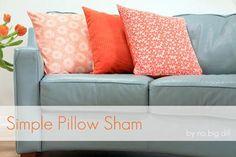 DIY Pillow DIY Pillow Shams DIY Pillow