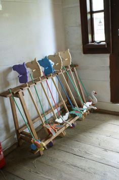 Bialystock Open Air Museum in Poland. Push Toys and Hobby Horses