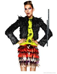 Anouk de Heer Models Daring Fashions for Marie Claire NL by Klaas Jan Kliphuis