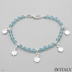 DV ITALY Nice Bracelet With Genuine Crystals Made in 925 Sterling silver. Total item weight 7.5g Length 7.5in DV ITALY. $30.00. Save 77% Off!