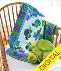 Totally Turtles Digital Quilt Pattern from QuiltandSewShop.com