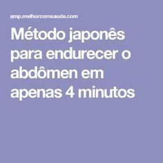 Método japonês para endurecer o abdômen em apenas 4 minutos