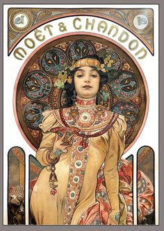 This is a great poster for the wall. It's perfect for anyone interested in the history of advertising. Mucha Art Nouveau, Alphonse Mucha Art, Art Nouveau Poster, Art Nouveau Design, Mucha Artist, Art And Illustration, Vintage Posters, Vintage Art, Art Posters