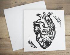 wiederholte anatomisches Herz print Kissen von hapticpress auf Etsy