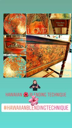Bermuda Blending™️ Hawaiian 🌺 Technique, You are in the right place about Woodworking Techniques awesome Here we offer you the most beauti Diy Furniture Videos, Furniture Painting Techniques, Furniture Update, Chalk Paint Furniture, Furniture Makeover, Furniture Decor, Furniture Stores, Painted Front Porches, Woodworking Crafts