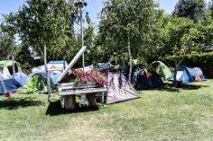 The Sandalandala camping in Vama Veche Picnic Blanket, Outdoor Blanket, Outdoor Furniture, Outdoor Decor, Sun Lounger, Camping, Home Decor, Campsite, Chaise Longue