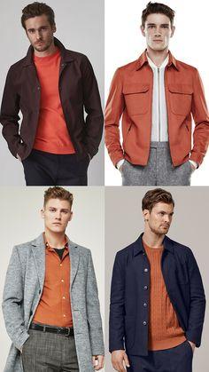 Colour for Spring/Summer: Orange Tone for Men's Outfit Lookbook Inspiration