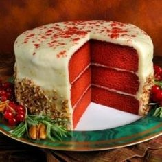 #Vegan Red Velvet Cake with Buttercream Frosting