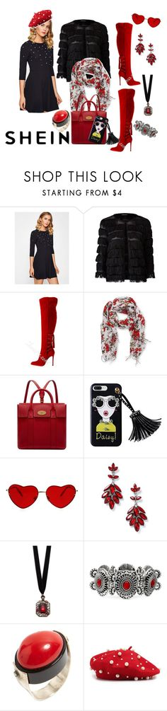 """Christmas Party Ready     Shein:pearl studded dress"" by bluehatter ❤ liked on Polyvore featuring Peach Couture, Mulberry, Miss Selfridge and Design Lab"