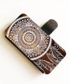 Dreamcatcher Wooden wallet case,Wallet Phone Case Iphone 6 Plus, WalletiPhone cases, Wallet samsung cases