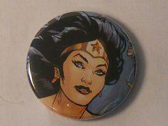 """Comic Book 1.5"""" Button// Wonder Woman, $1.00"""