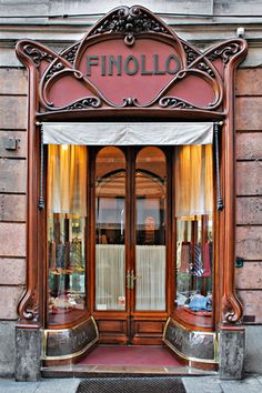 Art Nouveau shop; Finollo was established in 1899 in Genova, Italy, by the master shirtmaker Emanuele Finollo. The iconic shop is still owned and managed directly by the Finollo family, today represented by Daniela Finollo, granddoughter.