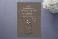 Perfect invitation for a summer evening wedding...we've caught hundreds of fireflies with our kids in the summer :)