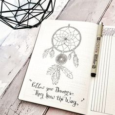 Bullet Journal - Doodles - Quotes - Dream catcher