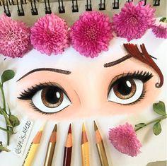 Belle (Eyes by Art_Is_Life100 @Instagram) #BeautyAndTheBeast
