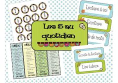 If anyone comes across this one or has the correct link, that would be awesome! Classroom Layout, French Classroom, Classroom Fun, Daily Five Organization, Classroom Organization, Teaching Letters, Teaching Tools, Daily 5 Stations, Daily Five Cafe