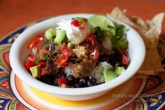Pork Carnitas Burrito Bowl | Pressure Cooking Today