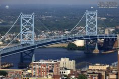 Walt Whitman Bridge Philadelphia, second bridge I drove over. This is taller then the Ben Franklin, I was really scared.