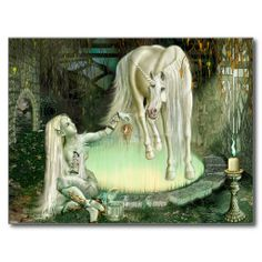 Fantasy art - Fruit of the Unicorn Postcard