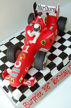 Ferrari F1 Race Car Birthday Cake by CharmPastry