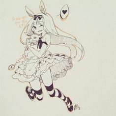 Art by Yenichi on Instagram, Instagramartists Instagramart animedrawing anime drawing animeillustration animeartists animeart yenichiart yenichi Aliceinwonderland
