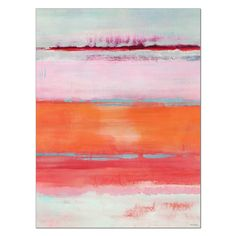 Found it at AllModern - Omar Coral Gel Coated Painting Print on Wrapped Canvas