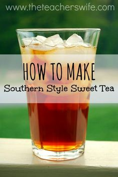 HOW TO MAKE SOUTHERN STYLE SWEET TEA. I can't believe I've gone 11 years without ever making sweet tea for my Mississippi-born husband. I decided to remedy the situation and figure out for myself what makes for some great southern style sweet tea. Refreshing Drinks, Summer Drinks, Fun Drinks, Cold Drinks, Beverages, Shots Drinks, Liquor Drinks, Bourbon Drinks, Vodka Drinks