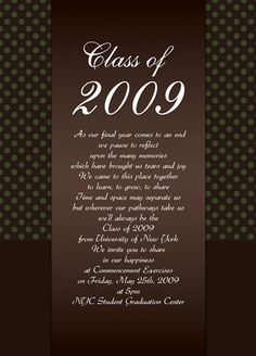Free graduation invitation templates for word to inspire you on how class of 2017 2017 polka dots design blank graduation announcement in modern design template samples and examples of graduation announcement wording filmwisefo