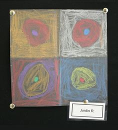 1st grade students at Meeting Street Academy in Charleston, SC emulate the work of #Kandinsky.  They made concentric circles using construction paper #crayons on black construction paper.  MSA founder Ben Navarro champions educational opportunities for under-resourced families.  Elementary Art education is a key component of his vision.  #MeetingStreetAcademy #Art #Education  #SCSchools #BenNavarro #ShermanFinancialGroup