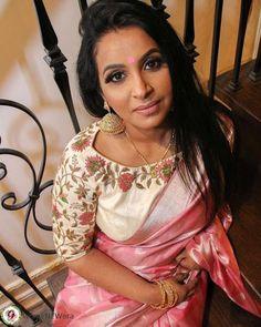 White Saree Blouse, Pattu Saree Blouse Designs, White Blouse Designs, Stylish Blouse Design, Designer Blouse Patterns, Couture, Work Blouse, Indian, Sarees